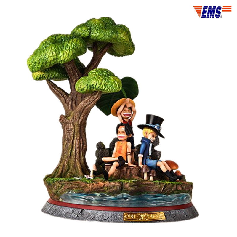 ONE PIECE Luffy Sabo Ace Childhood Three Brothers 1/6 GK Resin Limit The Quantity Statue Model Toy X282