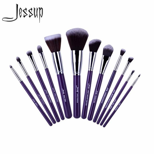2017 jessup pincéis 12 pcs Pro Makeup Cosméticos Set Fundação Eyeshadow Escova de Madeira Ferramentas Blush T087