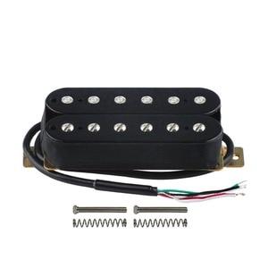 FLEOR Pickup Guitar Bridge Humbucker Pickup Electric Guitar Pickup Black Ceramic Magnet 4 Wire Guitar Parts Accessories