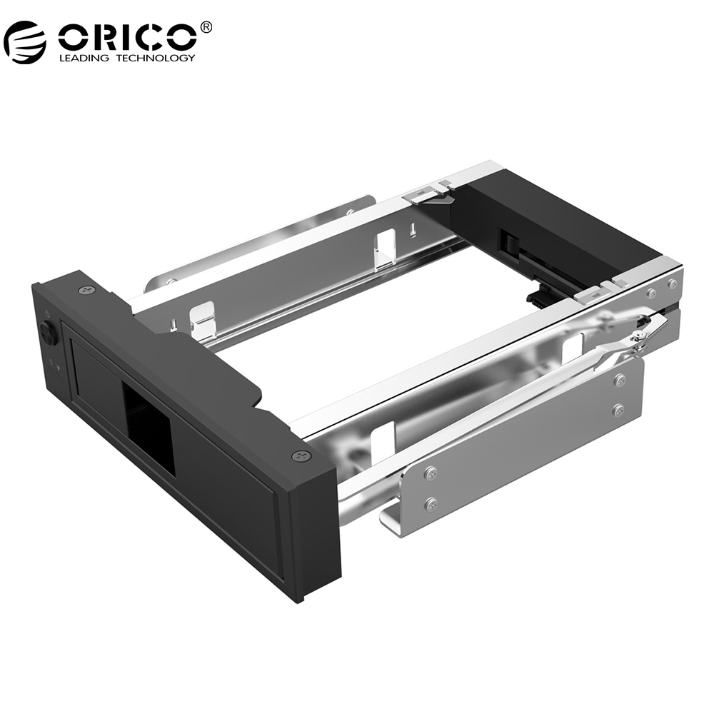 цена на ORICO CD-ROM Space HDD Mobile Rack Internal 3.5 Inch HDD Convertor Enclosure-Black(1106SS-BK)
