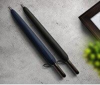 Clocor 24K Windproof Strong Straight Long Umbrella Wooden Handle Rain Umbrella Women Men Business Brand Glassfiber Paraguas Z619