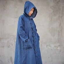 Весенний джинсовый тренч для женщин, большие размеры, Casaco Feminino, винтажное пальто, джинсовая ветровка, кардиган, пальто с капюшоном для женщин