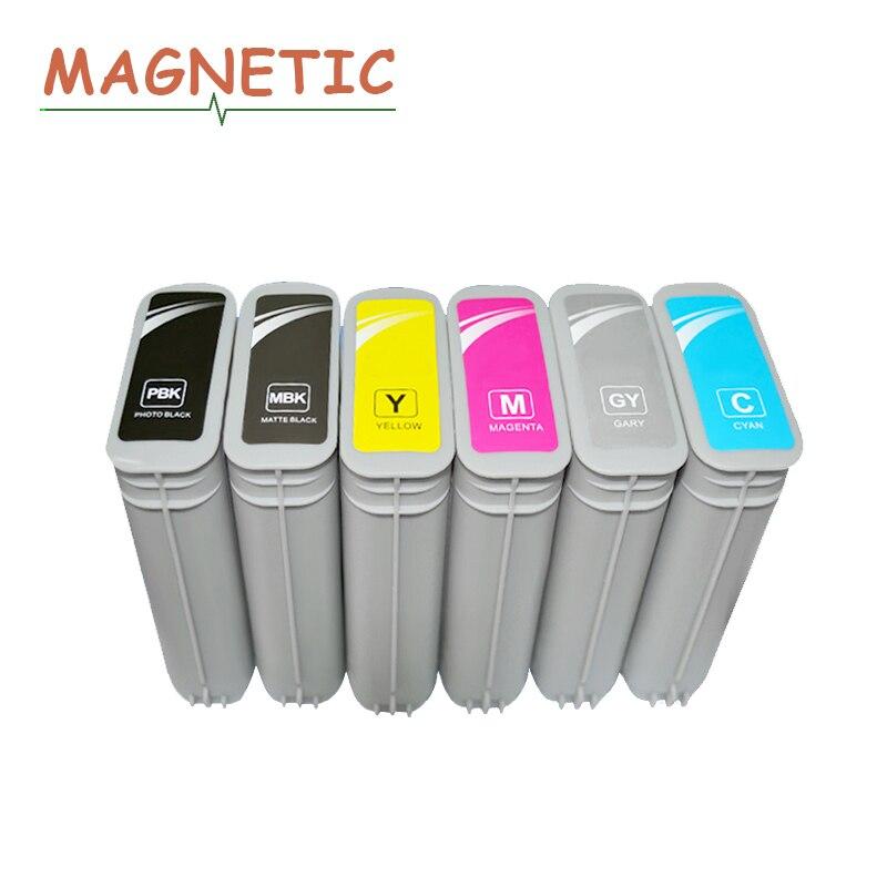 6x Magnétique Compatible Cartouche D'encre Pour HP 72 Plein D'encre Pour HP Designjet T610 T770 T795 T1100 T1120 T1200 T1300 T2300 imprimante