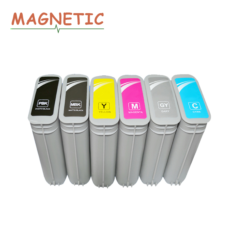 6x Magnetic Compatible Ink Cartridge For HP 72 Full Ink For HP Designjet T610 T770 T795 T1100 T1120 T1200 T1300 T2300 printer 1pk matte black compatible ink cartridge for hp72 designjet t1100 2300 t610 t620 t770 t790 t1120 t1200 t1300 t2300