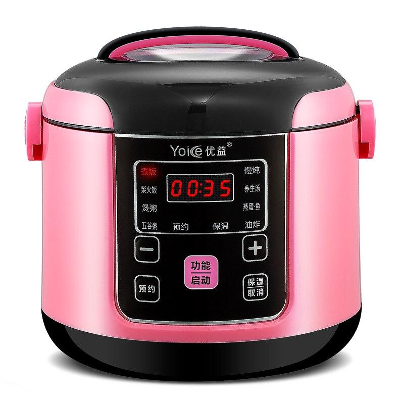 Accueil Smart Booking Mini cuiseur à riz 1-2-3 personnes multifonctionnel petit cuiseur à riz appareils de cuisine cuiseur à riz électrique 400 W