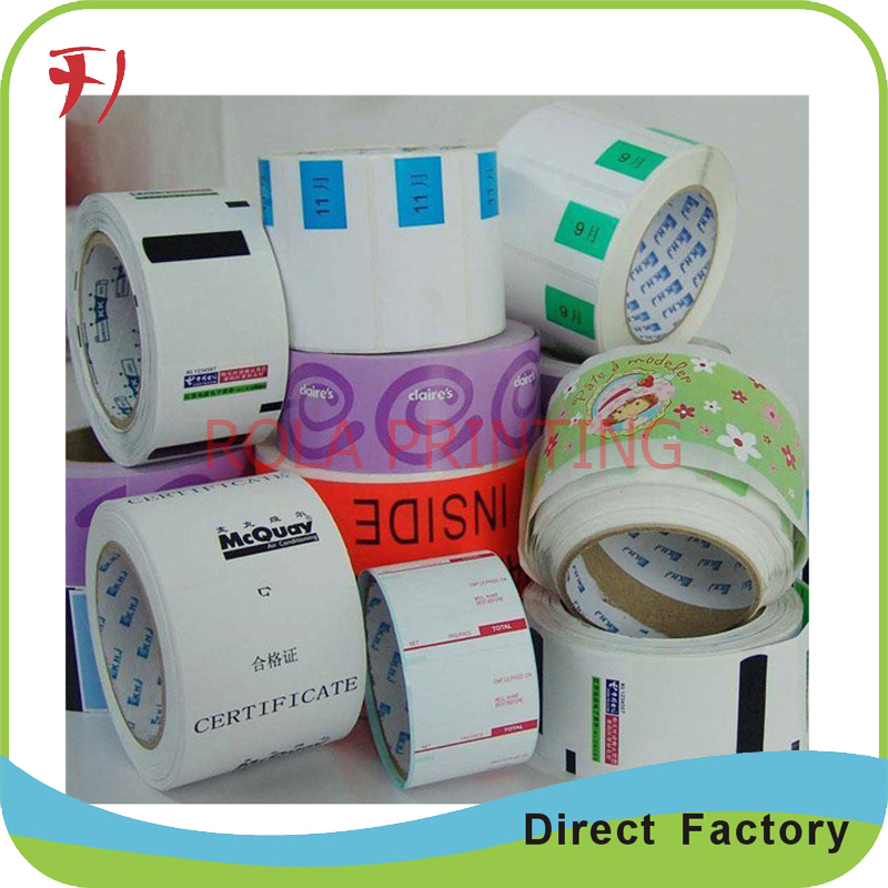 Customized self adhesive hair extention labels printing package labels for bottles