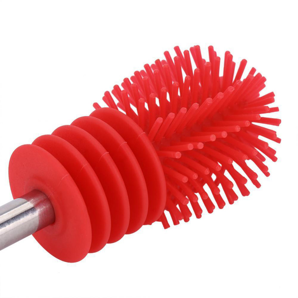 Image 5 - Bottle Brush Cup Scrubbing Silicone Kitchen Cleaner For Washing Cleaning Bottle Brush With Handle Cleaning Utensils Brush Glass-in Cleaning Brushes from Home & Garden