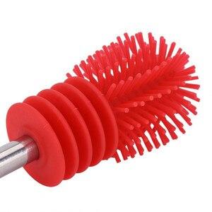 Image 5 - Escova de garrafa de silicone, escova para limpar garrafas, copo, limpador de silicone para limpar a cozinha, com cabo de limpeza, utensílios de limpeza, escova de vidro
