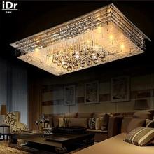 Высокого класса в Европейском стиле Потолочные Светильники Кристалл СВЕТОДИОДНЫЙ потолочный светильник спальня лампа прямоугольная гостиная