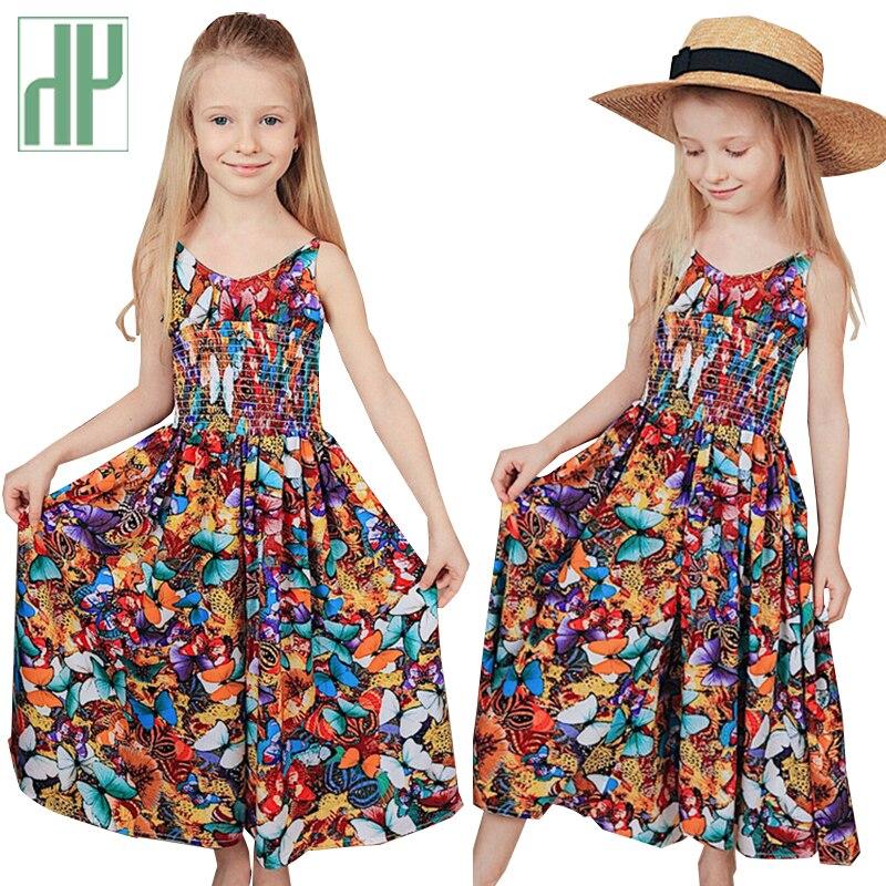 Mädchen Kleidung Schlussverkauf Einfache Rüschen Kleider Alter Für 4-14 Jahre Teenager Mädchen Weste Kleid Sommer Backless Sleeveless Prinzessin Kostüm 2019 Strand Kleiden