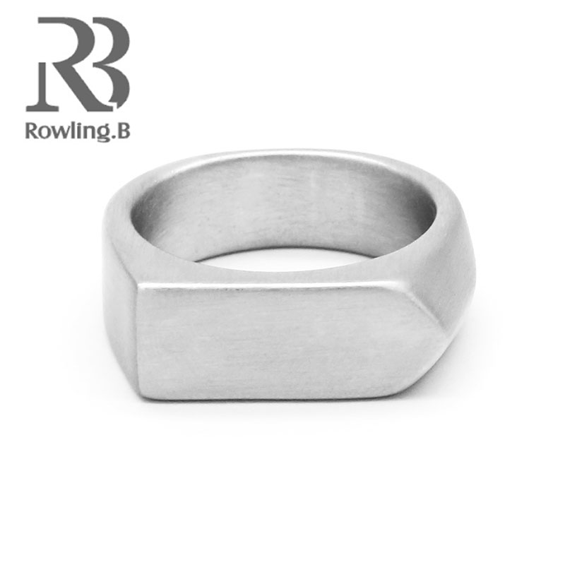 Smooth Men's Silver Rock Punk Rings Cool Fashion Individuality Ring for Men Party Trendy Jewelry