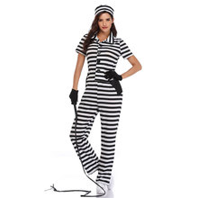 Umorden Women Prisoner Costume Incarcerated Cutie Costumes Criminal Theme Party Cosplay Halloween Carnival Mardi Gras Outfit
