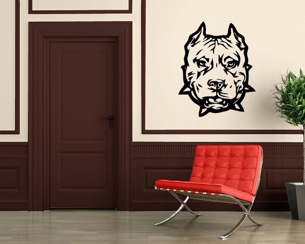 Wall Stickers Vinyl Decal Animal Hound Dog Bulldog Pitbull Pet