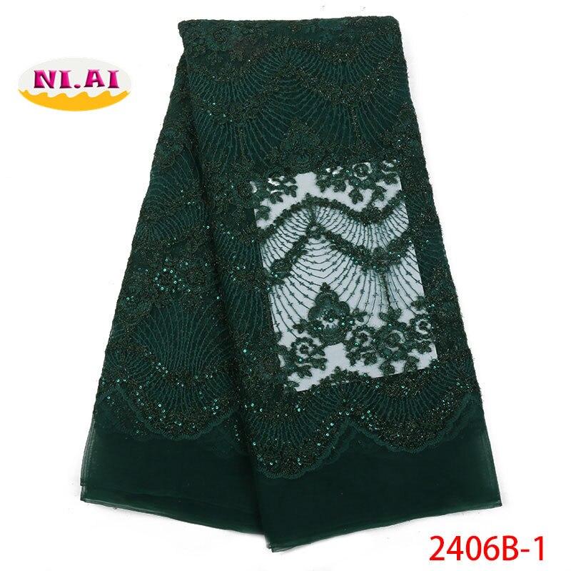 Ostatnie projekt afryki koronki tkaniny wysokiej jakości 2018 nigeryjska koronka na ślub tkanina z koronki tiulowej dla sukienka na imprezę NA2406B 1 w Koronka od Dom i ogród na  Grupa 1