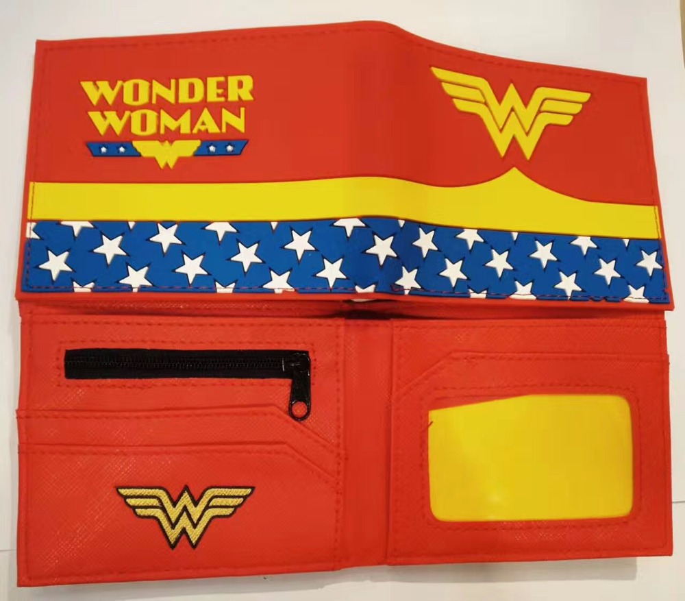 DC Marvel Comics Deadpool Wonder Woman Superman wallet women men wallet card short coin bifold purse  Short purse 12 style