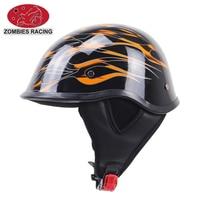 Brand Black Adult Helmets For Motorcycle Retro Half Cruise Helmet Prince Motorcycle Helmet DOT Approved