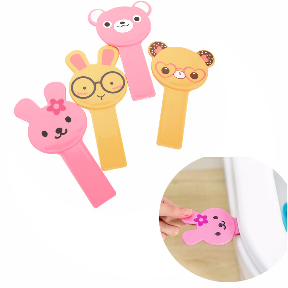 Cute Cartoon Cover Lifter Toilet Seat Handle Sticker