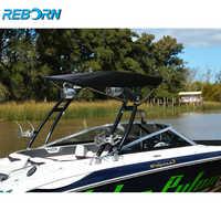 Reborn Pro3 Foldable Boat Wakeboard Tower Bimini Black Canopy- 1900v/2200V