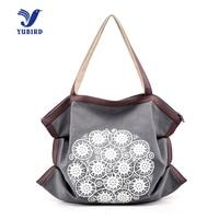 YUBIRD Brand Printing Canvas Women Shoulder Bag Female Handbag Fresh Fabric Cloth Casual Tote Simple Shopping
