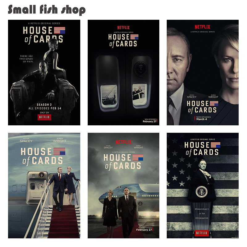 House of Cards Home Furnishing decoration Kraft Movie Poster Drawing core Wall stickers