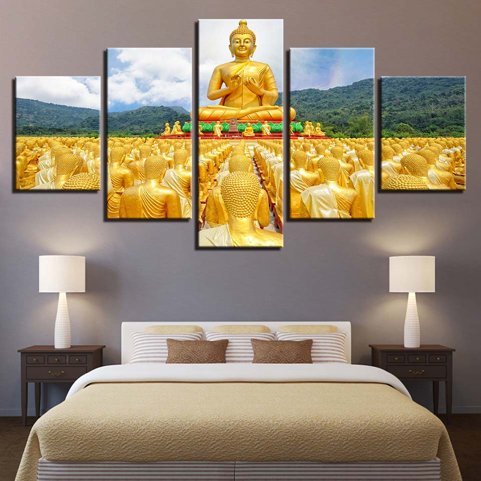 Canvas Wall Art Posters Framework HD Prints Paintings 5 Pieces ...