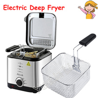 Electric Deep Fryer Mini Deep Fat Fryer Smart Home Fryer Large Capacity Oil free French Fries Machine 1.5L