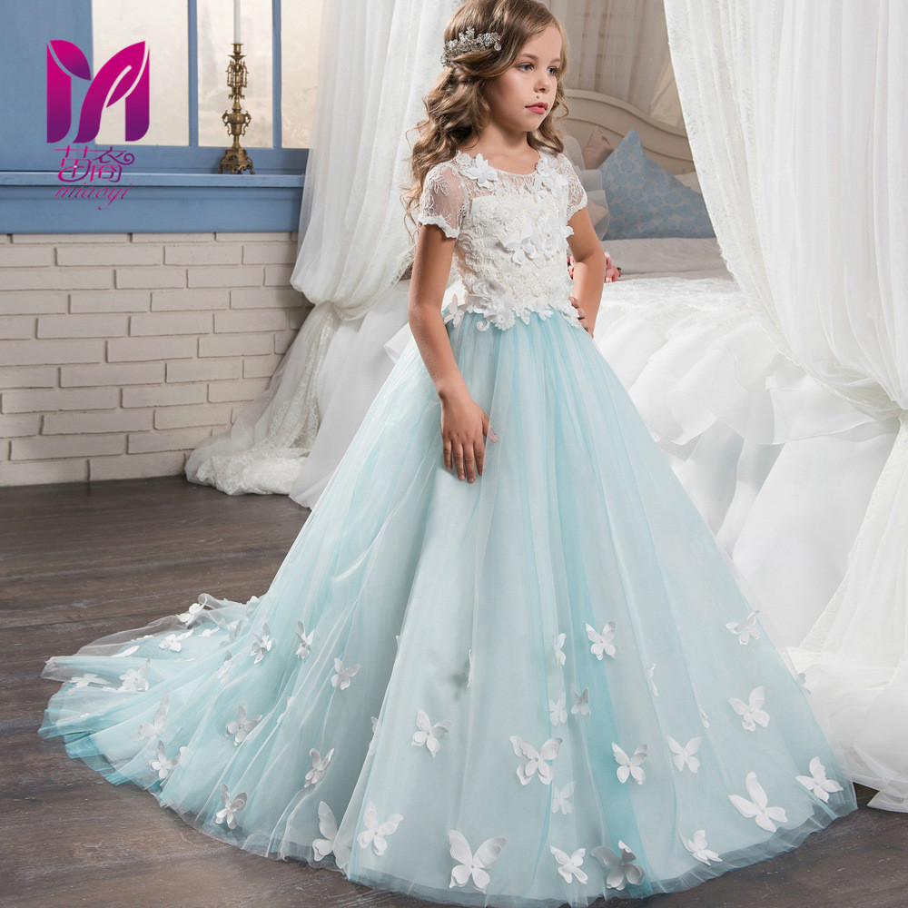 New short sleeved lace palace princess wind Baby Girls Dress Style ...