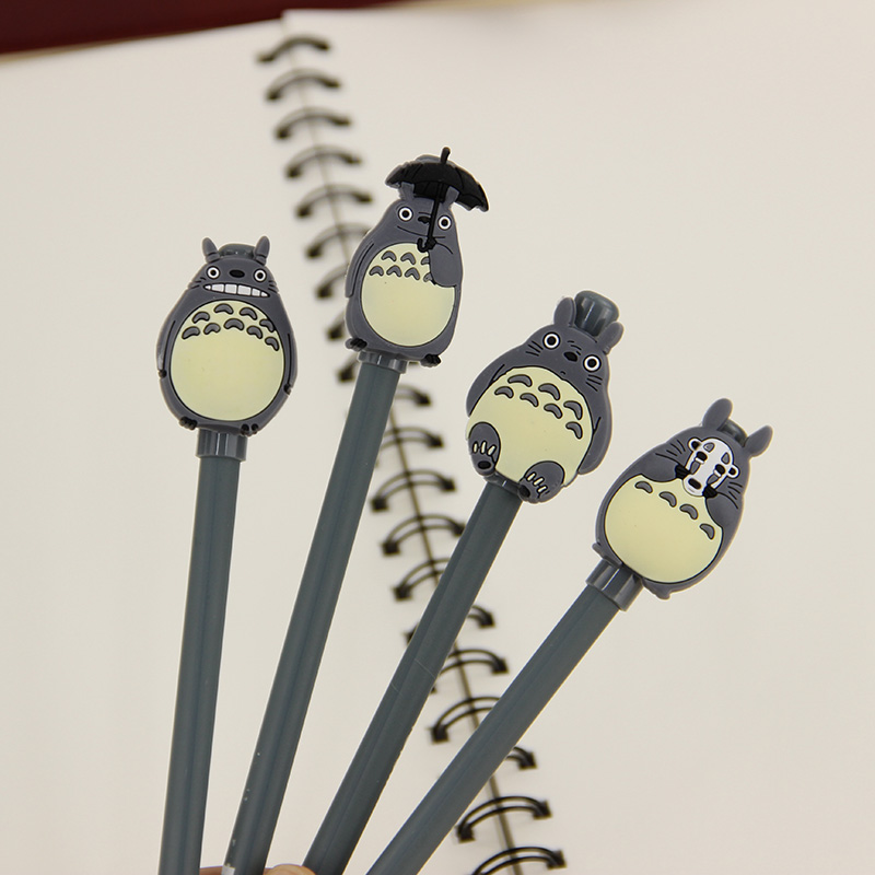Novelty Cute My Neighbor Totoro Gel Ink Pen Signature Pen Escolar School Office Supply Promotional Gift 4 pcs pack novelty cute my neighbor totoro gel ink pen signature pen escolar papelaria school office supply