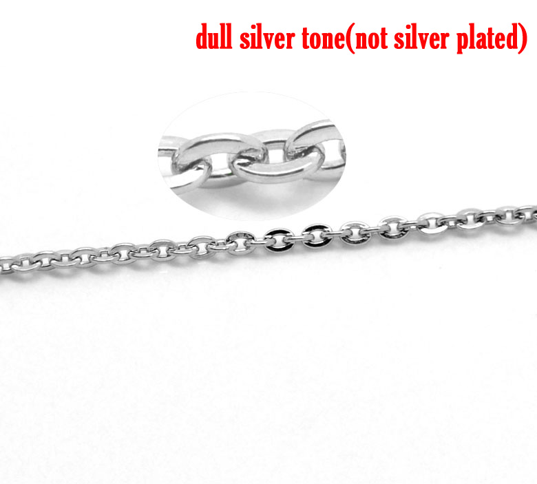 Stainless Steel Silver Tone 2mm x 1.5mm, 1 M newStainless Steel Silver Tone 2mm x 1.5mm, 1 M new