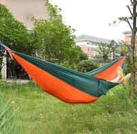 Orange New Arrival High Quality Double Person Portable Parachute Nylon Fabric Hammock Outdoor Camping Travel Single/Double bed