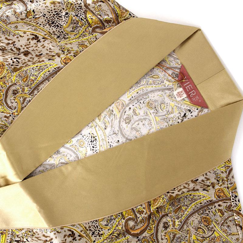 2019 New Genuine Silk Sleeping Robes Male Spring Autumn Long Sleeve Printed Bathrobe Kimono Silkworm Silk Fashion Mens Sleepwear in Robes from Underwear Sleepwears