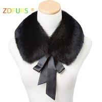 ZDFURS * real fox fur collar muffler fur scarf for winter fox fur collar for wool coat Coat decoration lovely collar for girl