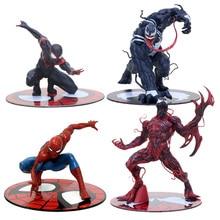 ARTFX + STATUE Spiderman Miles Morales Venom Carnage 1/10 Scale Pre-Painted Figure Model Kit Toy