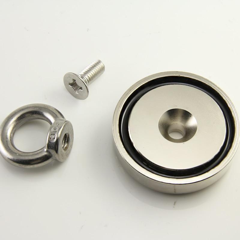 D60mm salvage magnets 110kg deep sea fishing magnet pot magnet treasure hunter Pulling Mounting