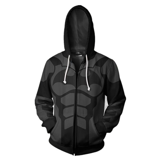 Dc Batman Full Zip Hoodies Cool Pullover Thin Funny Coat Jacket