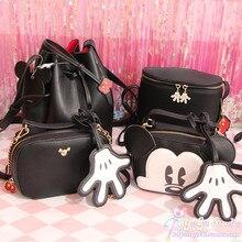 De las mujeres de la moda de Mickey Minnie bolso bolsas ocio de dibujos animados lindo hombro bolso Mickey Crossbody Bolsa Bolsos Mujer