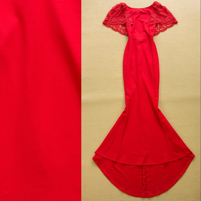 Sexy long mopping floor fishtail dress charming red dress in dresses