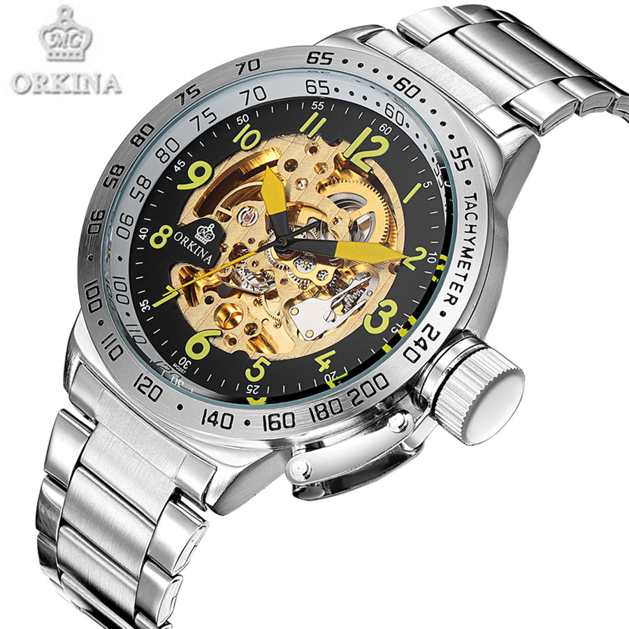 Classic design Big Dial Skeleton Men's Sports Watch Automatic Mechanical Men Watches Top Brand Luxury Heren Horloge 2017 New top luxury brand new arrival men business casual fashion watches big dial genuine leather skeleton automatic mechanical watch