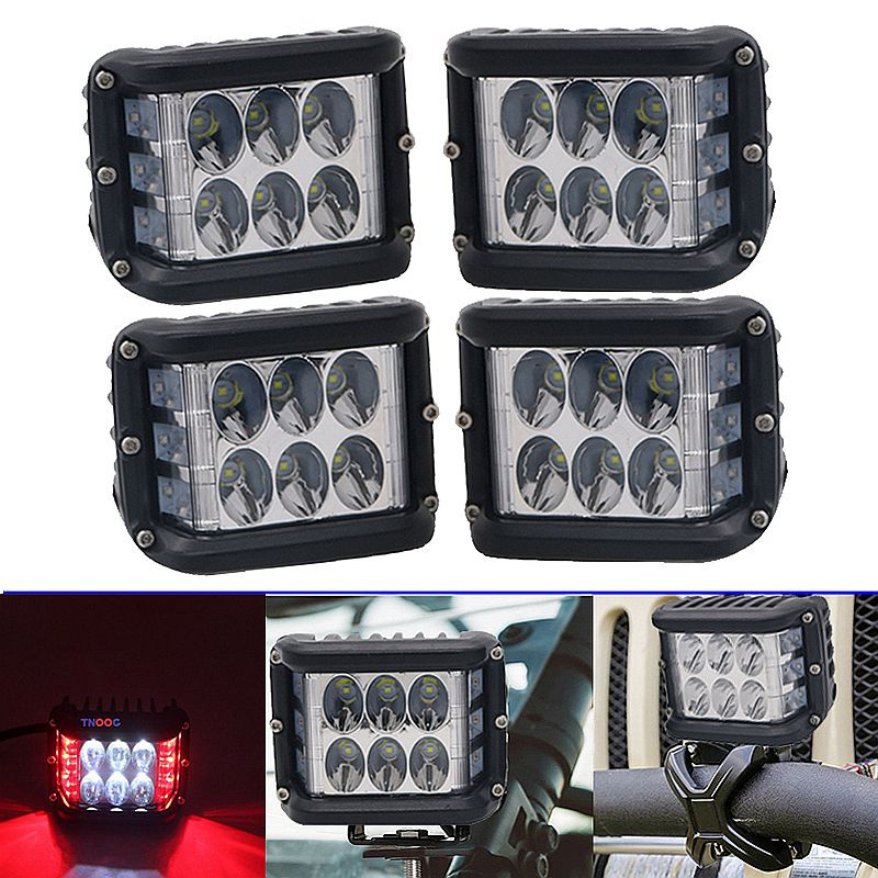 Headlight Assembly Strobe Single Side Lamp 36W Side Shot Pod LED Cube Work Light Off Road Driving Lamp For Jeep UTV RZR Truck