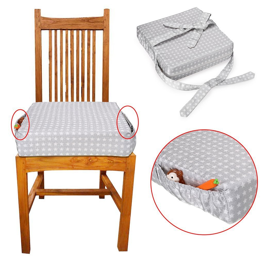 Children Increased Chair Pad Baby Booster Seat Children Dining Cushion Adjustable Foldable Removable Chair Booster Seats