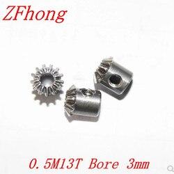 Engranaje cónico de acero de 0,5 m13t, 13 dientes, relación de módulo 0,5, orificio 1:1, piezas de transmisión de ángulo recto de acero de 3mm, piezas de máquina DIY, 1 par