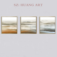 Chinese celebrities painting selling hand painted oil painting of modern decoration 3 p combination of abstract art decorative w