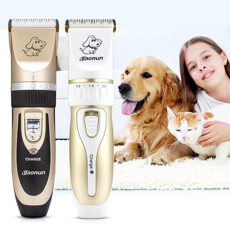 BaoRun professionnel Rechargeable Pet chien chat tondeuse à cheveux électrique tondeuse coupeur Animal coupe de cheveux Machine toilettage outil EU PLUG
