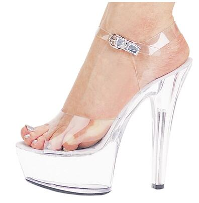 <font><b>High</b></font> Quality New Women Shoes <font><b>Sandals</b></font> Summer <font><b>Sexy</b></font> <font><b>Sandals</b></font> Transparent Waterproof Catwalk Shoes Crystal 15cm <font><b>High</b></font>-<font><b>heeled</b></font> Shoe image