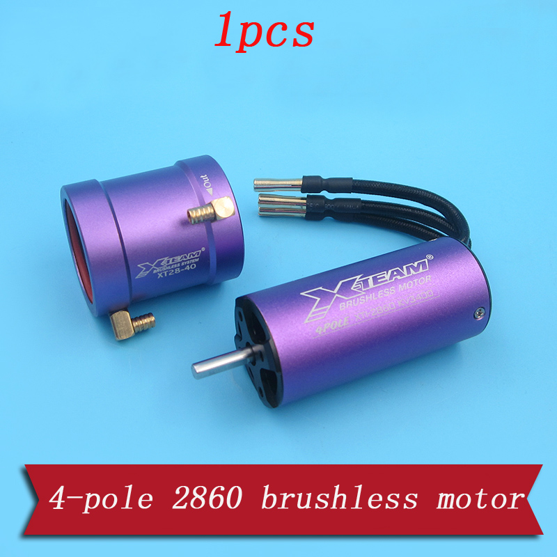 1PC 4-pole 2860 Brushless Jet Motor 3400KV Water Cooling Marine Motor w  Cooler Jacket Spare Parts for 600-750mm RC Boat Model