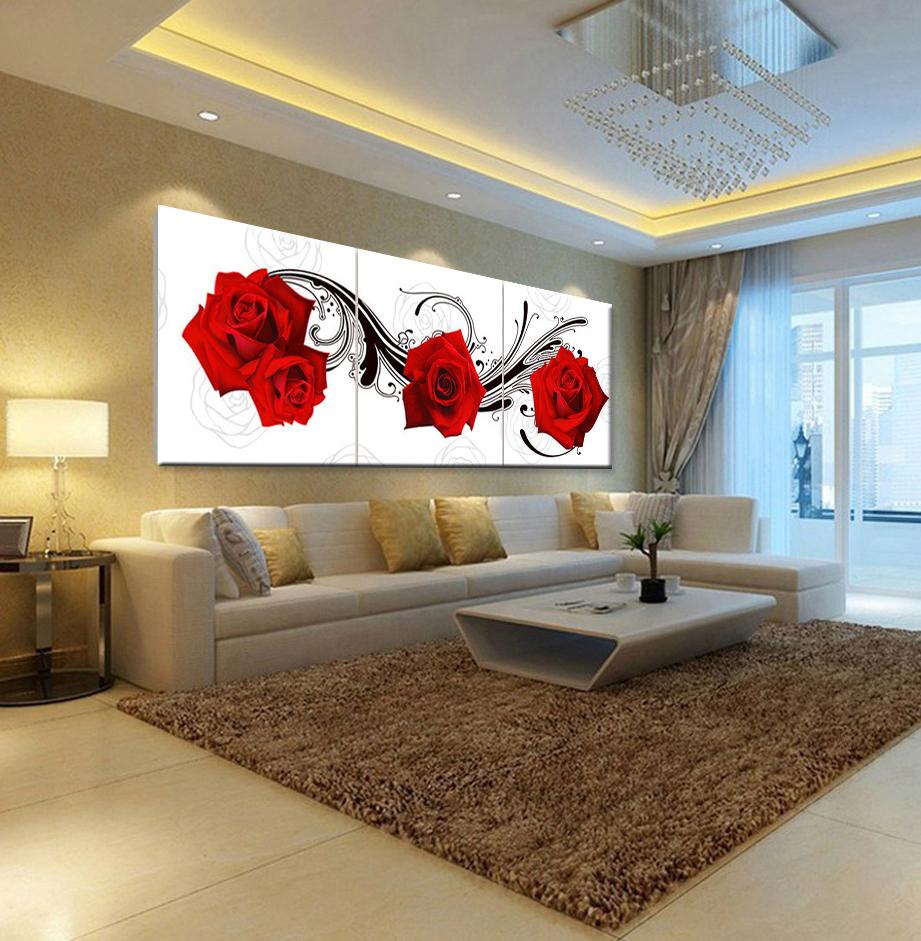 picture pintura al leo flores rosas dormitorio sala de estar decoracin del hogar pinturas murales de