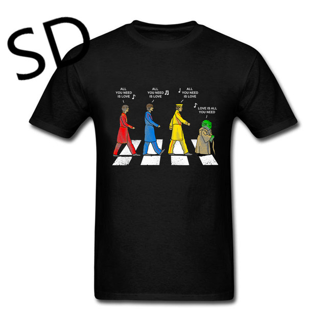 2aa7c76d0 Dropshipping Summer Tops Love is all you Need Rock Band T-shirt Men Yoda  compression shirt Vintage Tee Shirt oversized clothing