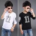 2016 весной дети футболки мода ситец футболка с длинным рукавом для мальчика детской одежды в розницу бесплатная доставка