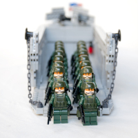 WW2 US Army Higgins Landing Craft Weapons Brinquedos Compatible Playmobil Military Mini Figures Building Block Original Toys