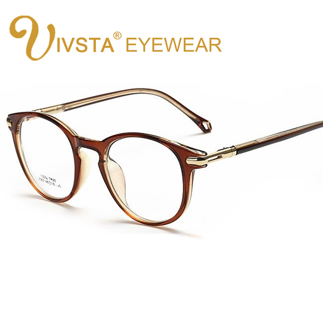IVSTA Brand Designer Gold Chain Decoration Big Women Eyeglasses Round Clear glasses Spectacles transparent frame optical degree